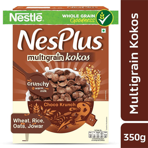 Nestlé NesPlus Breakfast Cereal, Multigrain Kokos – Choco Crunch, 350g