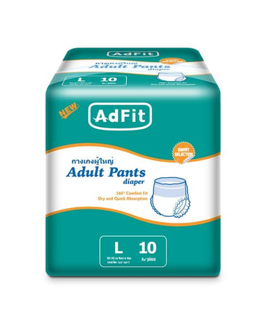 ADFIT ADULT DIAPER LARGE 10`S ( Pant Style) - Kirana - Online Shopping Nepal