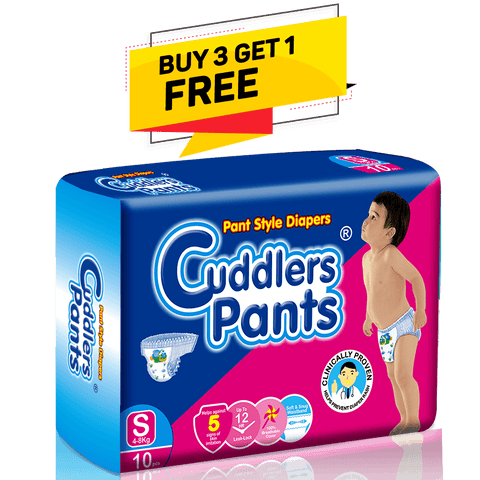 Cuddlers Pants Diapers Small, 10count (Buy 3 Get 1 Free)