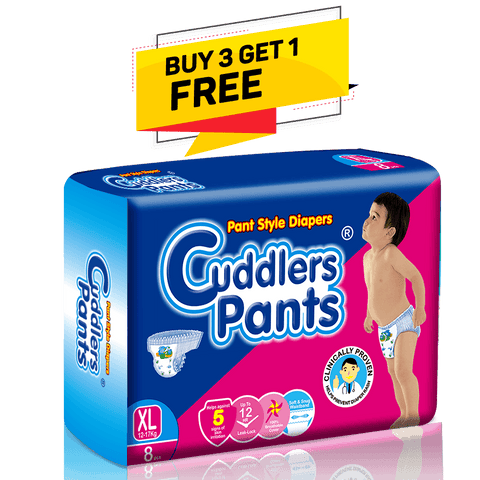 Cuddlers Pants Diapers Extra Large, 8count (Buy 3 Get 1 Free)