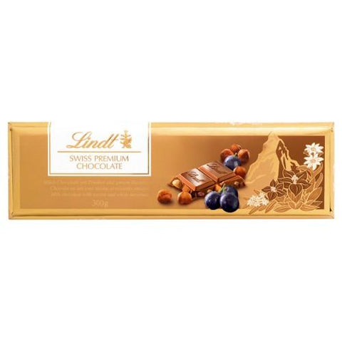 Lindt Gold Tablets Milk Raisin Nut 300gm - Kirana - Online Shopping Nepal