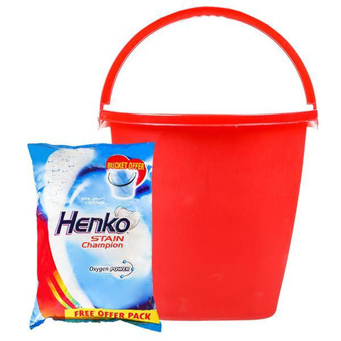 Henko Stain Champion Oxygen Powder-3kg (Free Bucket)