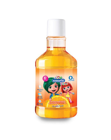Kodomo Baby Mouthwash Orange 6 years+, 250ml