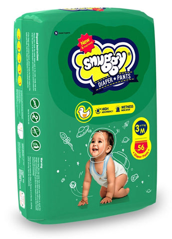 Snuggy Baby Diaper Pant Large, 34count