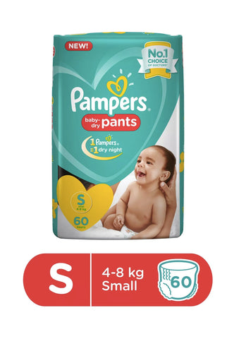 Pampers New Diapers Pants, Small (60 Count)
