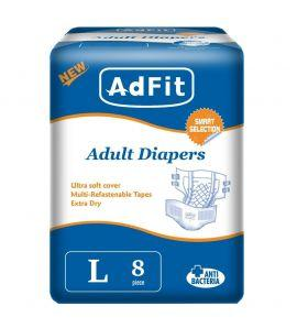 ADFIT ADULT DIAPER LARGE 8`S - Kirana - Online Shopping Nepal