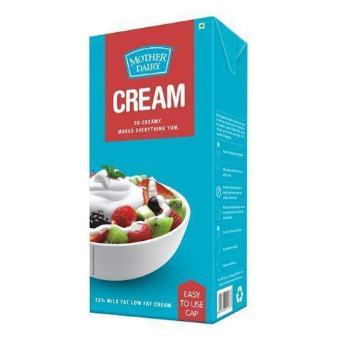 Mother Dairy Fresh Cream, 1 L (Tetra Pack)