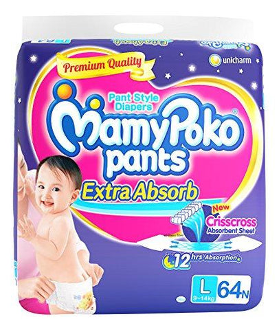 MamyPoko Pants Diaper Large,64count