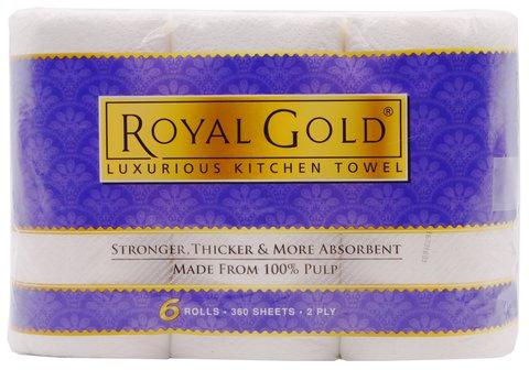 ROYAL GOLD KITCHEN TOWEL 6 ROLL - Kirana - Online Shopping Nepal