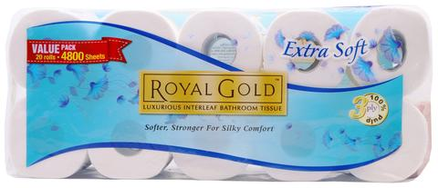 ROYAL GOLD NON WRAPPED TOILET ROLL 220`S - Kirana - Online Shopping Nepal