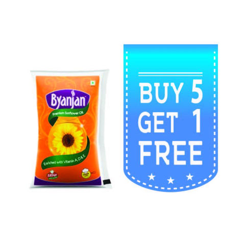 Byanjan Sunflower Oil (Buy 5 Get 1 Free) - Kirana - Online Shopping Nepal