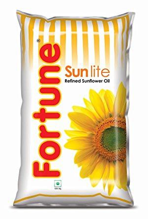 Fortune Sunflower Oil (1 ltr Pouch) - Kirana - Online Shopping Nepal