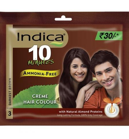 Indica Creme Hair Colour, Dark Brown