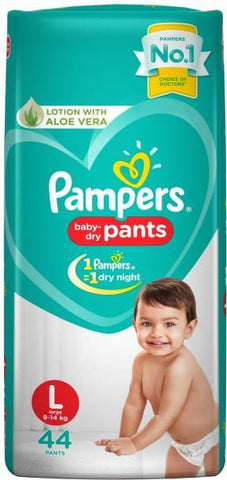 Pampers New Diapers Pants Monthly Pack, Large (88 Count)