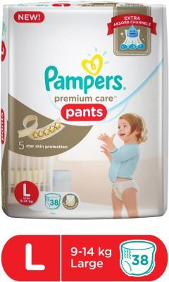 Pampers Premium Care Diaper Pants, Large (38 Count)