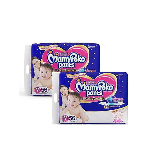 Mamy Poko Pants Diaper Medium-Monthly Pack- 112count
