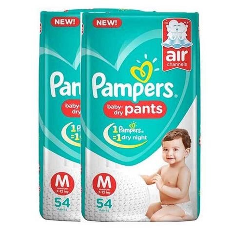 Pampers New Diapers Pants Monthly Pack, Medium (108 Count)