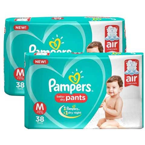 Pampers New Diapers Monthly Pack, Medium (76 Count)