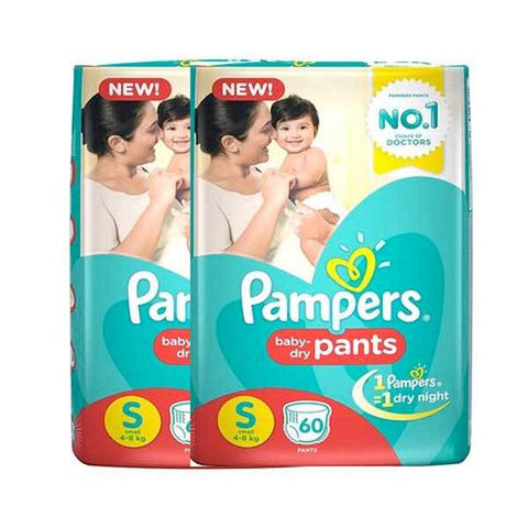 Pampers New Diapers Pants Monthly Pack, Small (120 Count)