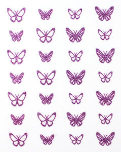 Glitter Collection - Purple Butterflies