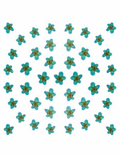 Dry Flower Design - Green / Blue