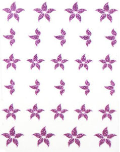 Glitter Collection - Purple Flowers