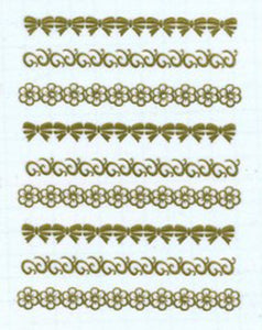 Gold Collection - Bows, Flowers and Swirls Lace