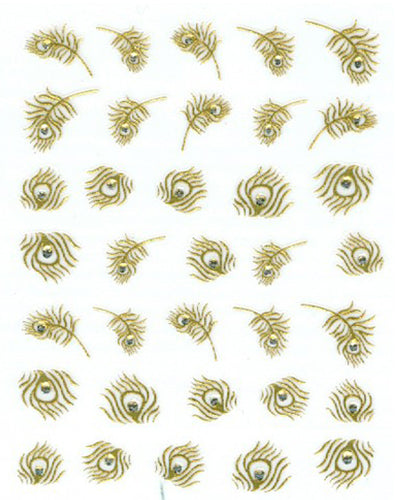 Gold Collection - Peacock Feathers