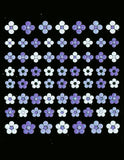 3D Collection-Purple & White Flowers