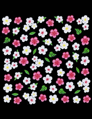 3D Collection - Pink / White Flowers