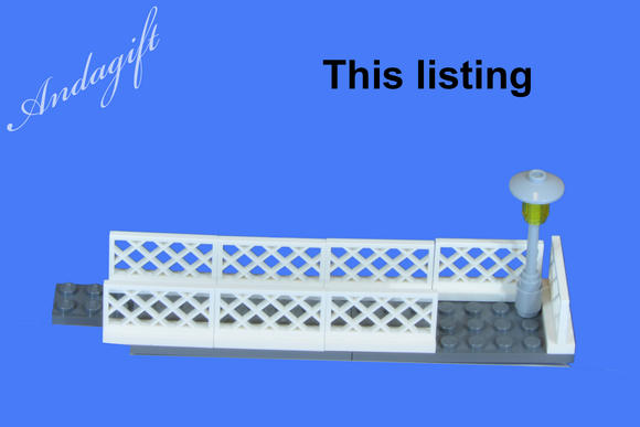 LEGO footbridge for train station or road railway bridge train set EXTENSION SET - andagift