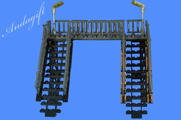 LEGO modern footbridge for train station or road railway - andagift