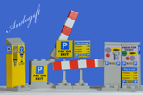 LEGO car parking meters pay on exit car park set - andagift