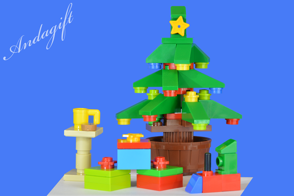 LEGO SANTA with CHRISTMAS TREE lego toy train - andagift
