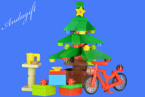 LEGO CHRISTMAS TREE lego red bicycle bike - andagift