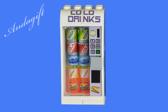 LEGO drinks vending machine with custom designed drinks - andagift