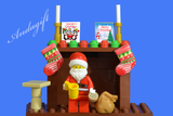 LEGO SANTA and sack stuck in the chimney Father Christmas presents - andagift