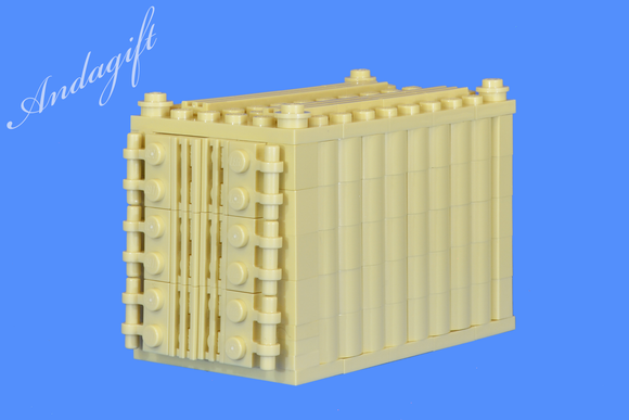 LEGO Tan shipping container for freight cargo train and road - andagift