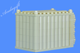 LEGO set of 2 shipping containers in tan and white for freight cargo train and road - andagift
