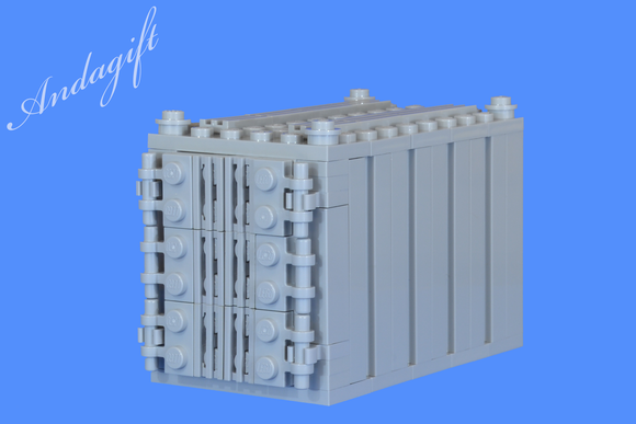 LEGO grey shipping container for freight cargo train and road - andagift