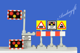 Lego City train car road signs 2xLEVEL CROSSING set with barriers and signs - andagift