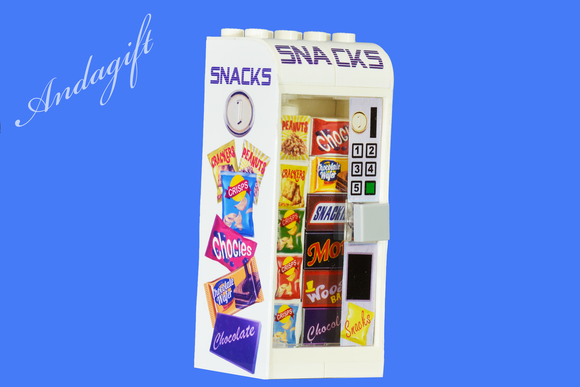 LEGO Snacks vending machine with custom designed food - andagift