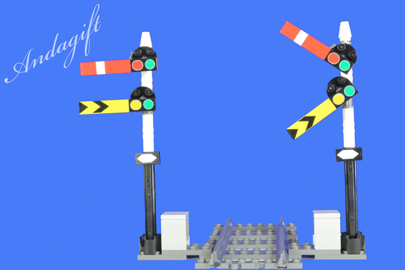 LEGO train signal 2 semaphore train signals straight track custom instructions - andagift