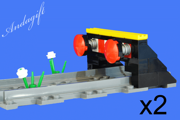 LEGO straight track train buffer line end train stop x2 add to 60178 60198 60197 - andagift
