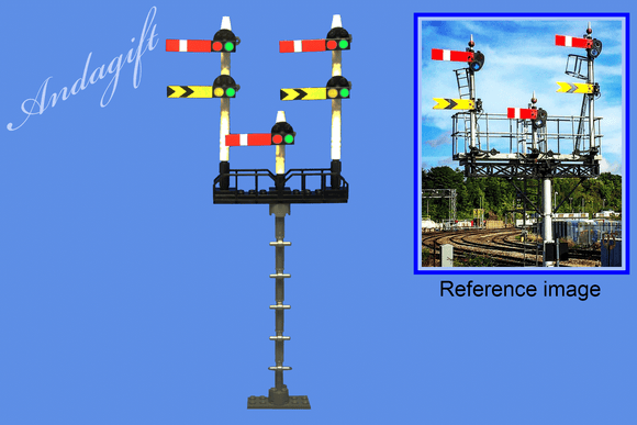 LEGO train semaphore train signals on a gantry custom set instructions - andagift