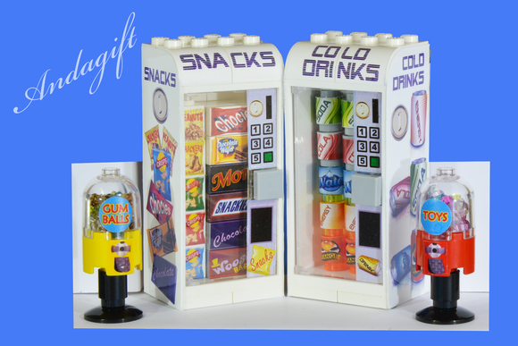 LEGO drinks and snack vending machines - andagift