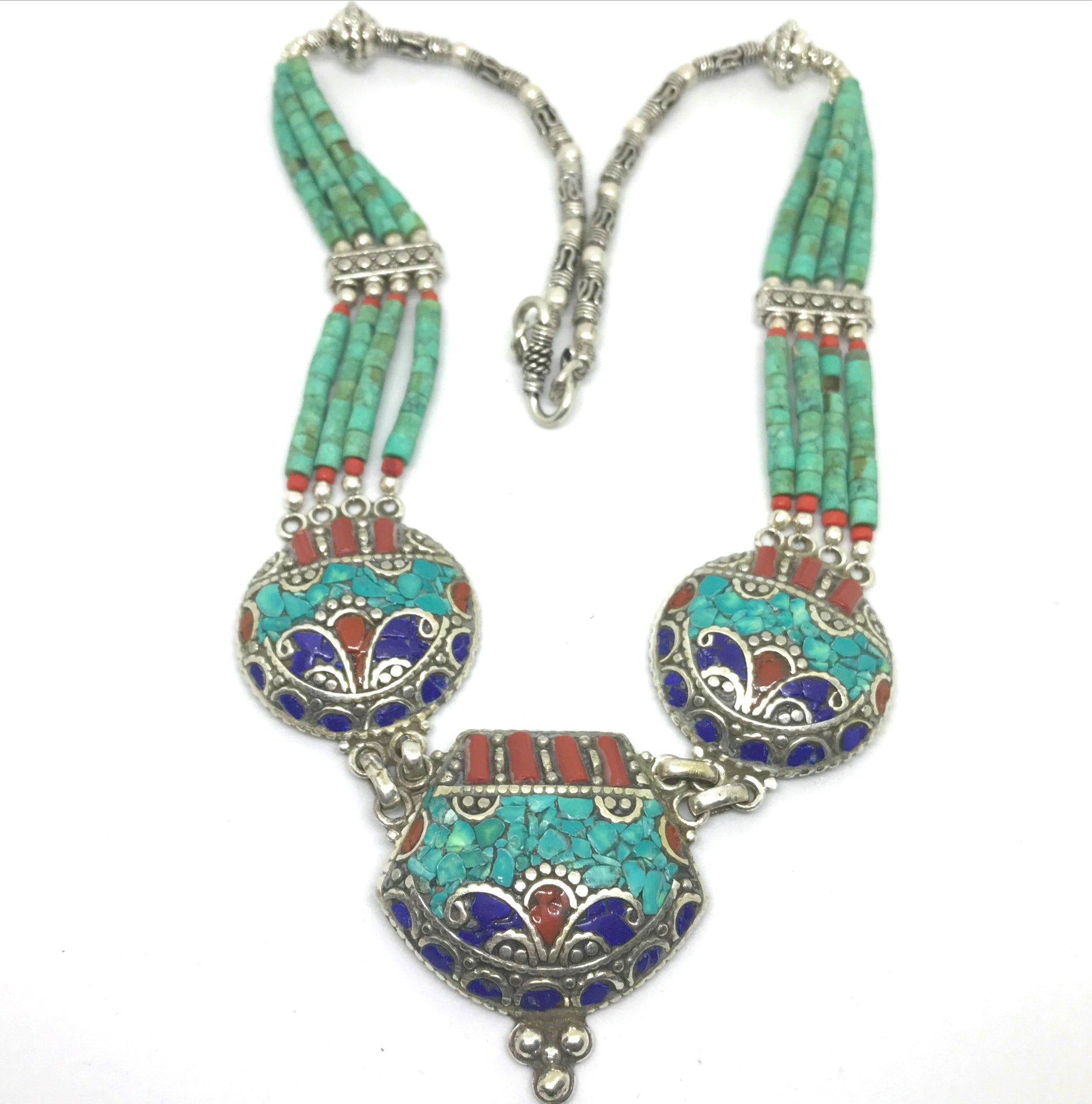 and ethnic afghan beads with lampwork collections kuchi vintage nepal tribal products antique necklace img jewelry silver glass nomad necklaces berber