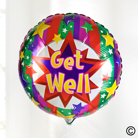 Get Well Balloon - Ramsbothams Florists Milton Keynes