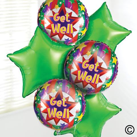 Get Well Balloon Bouquet - Ramsbothams Florists Milton Keynes