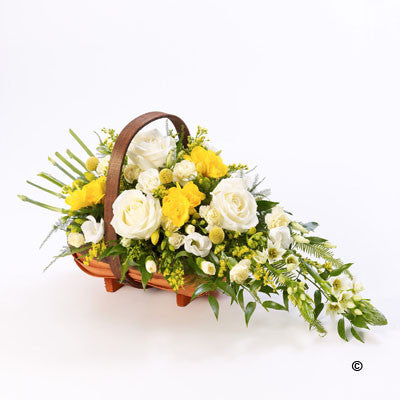 Mixed Basket - Yellow and White - Ramsbothams Florists Milton Keynes